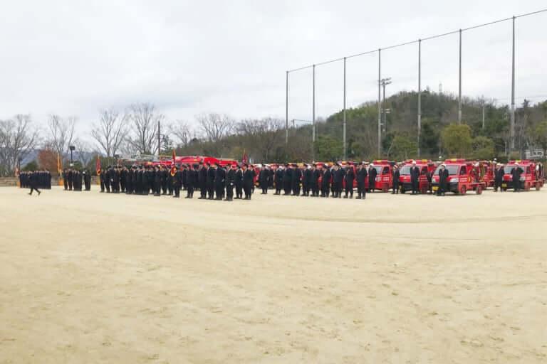 【京田辺市】消防出初式が行われました
